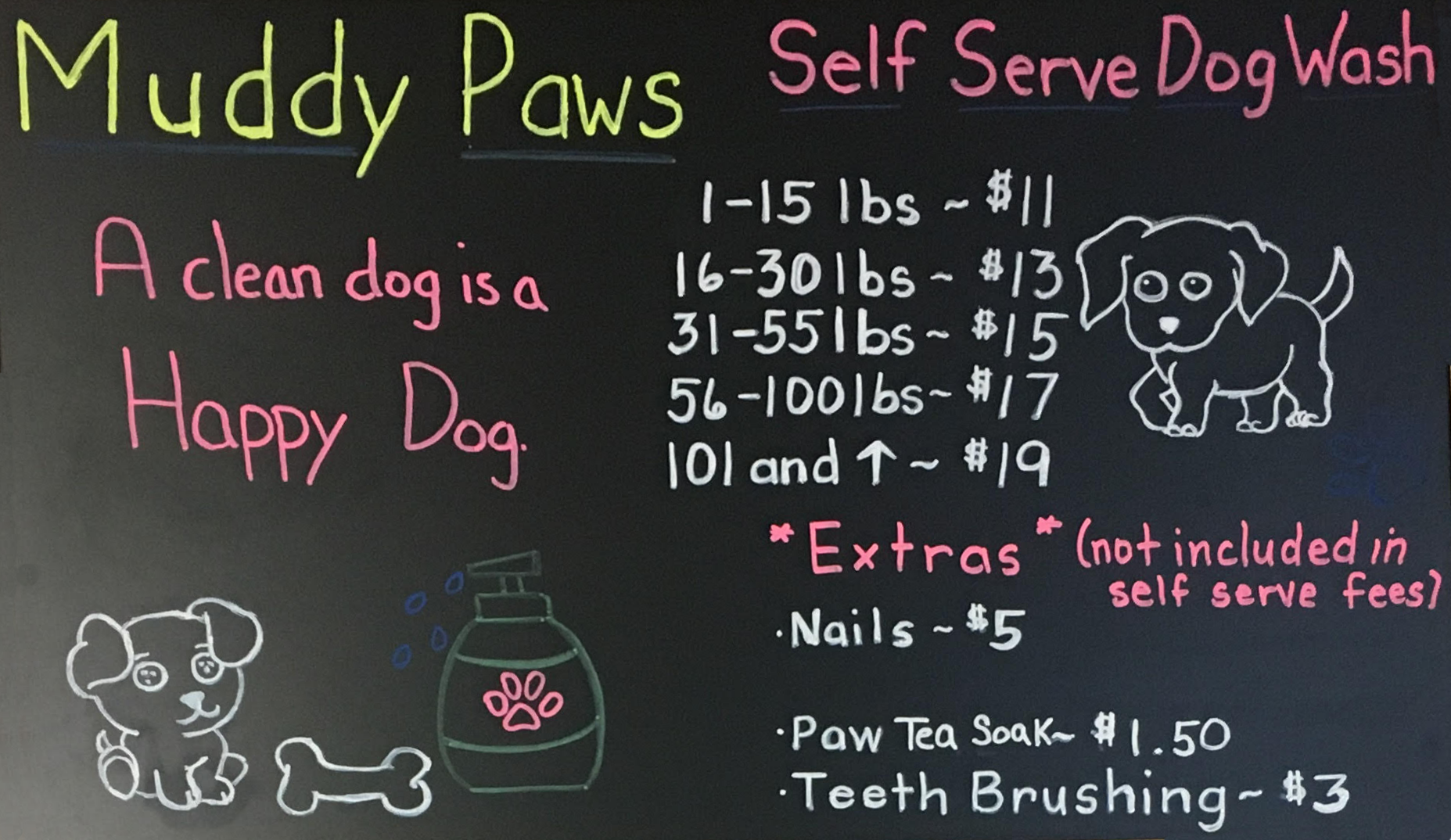 Muddy paws dog wash and grooming looking for grooming services we can take care of everything in the same visit sorry there is no option for self serve grooming solutioingenieria Image collections